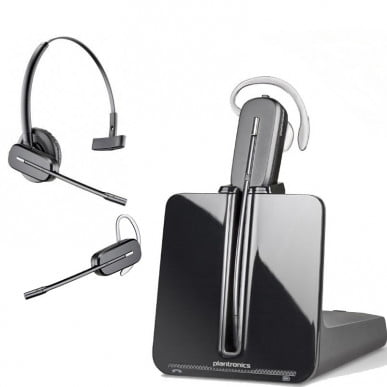 Plantronics CS540 wireless headset and base
