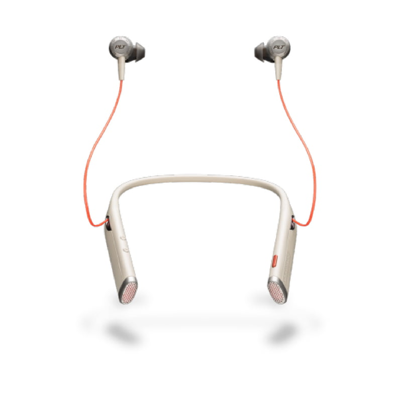 Plantronics Voyager 6200 uc Bluetooth anc Neckband Headset with Earbuds - Sand