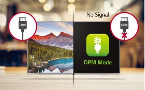 LG screen 65 UU640C display power management